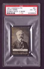 1901 Ogdens Ltd. JULES VERNE #91 PSA VG-EX 4 Guinea Gold F Base