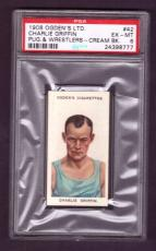 1908 Ogden Ltd. CHARLIE GRIFFIN #42 PSA EX-MT 6 Pugilists & Wrestlers Cream Back