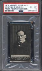 1909 Murray Sons & Co WINSTON CHURCHILL PSA 6 EX-MT Highest Graded POP 1