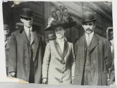 1909 Wright Brothers (Orville & Wilbur) & Sister Original Large Cabinet Photo