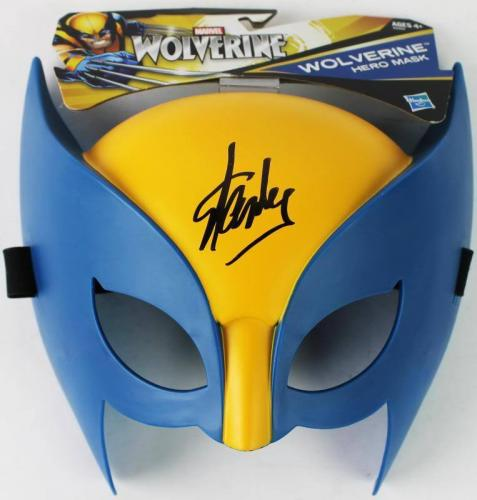 Stan Lee Signed Marvel Wolverine Hero Mask W/ Stan Lee Hologram & PSA/DNA