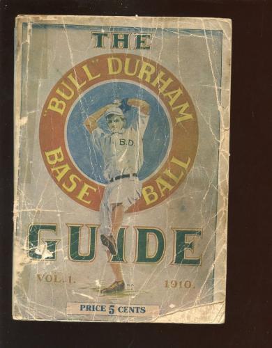 1910 Bull Durham Baseball Guide