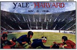 1914 Yale Bulldogs vs Harvard Crimson 22x30 Canvas Historic Football Poster