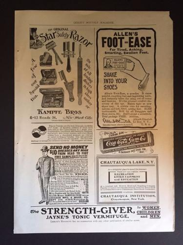 1915 Coca-Cola Chewing Gum Vintage Advertisement