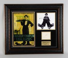 "1916 ""The Rink"" – Charlie Chaplin Signed Cut 25×29 Display – JSA Full LOA"