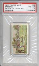 1917 Village Maid BASEBALL #26 PSA 4 VG-EX Sports of the World Vintage Card