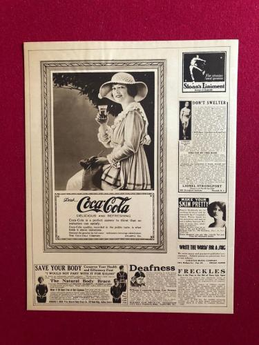 "1919, Coca-Cola, ""Full Page"" Display Ad (Scarce)"