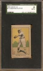 1920 W516 strip card GEORGE BURNS - new york giants - SGC AUTHENTICATED
