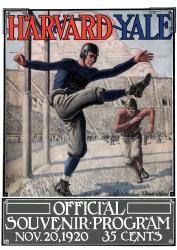 1920 Yale Bulldogs vs Harvard Crimson 22x30 Canvas Historic Football Poster