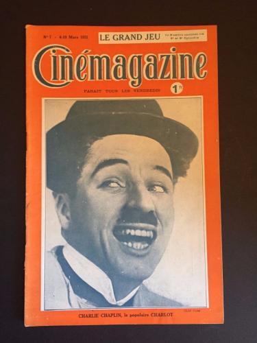 "1921 Charlie Chaplin, ""Cinemagazine"
