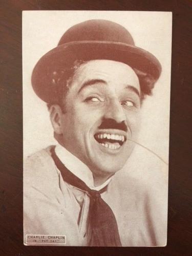 "1922, Charlie Chaplin, ""Un-Used"" Post Card (Scarce)"