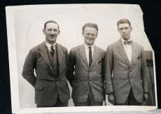 1922 George Duncan, Willie Hunter, Abe Mitchell, British Golfers Orig Wire Photo