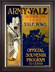 1922 Yale Bulldogs vs Army Black Knights 36x48 Framed Canvas Historic Football Poster - Mounted Memories