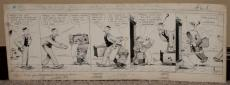 """1923  Mutt and Jeff Comic Artwork # 21, by H. C. Bud Fisher, 30"""" x 11"""