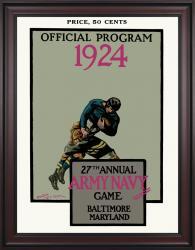 1924 Army Black Knights vs Navy Midshipmen  36x48 Framed Canvas Historic Football Poster