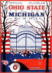 1925 Michigan Wolverines vs Ohio State Buckeyes 22x30 Canvas Historic Football Poster