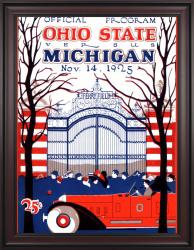1925 Michigan Wolverines vs Ohio State Buckeyes 36x48 Framed Canvas Historic Football Poster