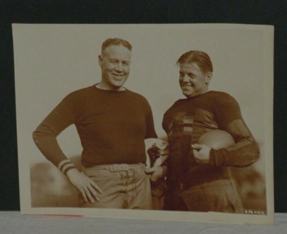 1926 Army Cadets Biff Jones,Coach( and Orville (Tiny) Hewitt, Underwood Photo