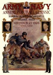 1926 Army Black Knights vs Navy Midshipmen 22x30 Canvas Historic Football Poster