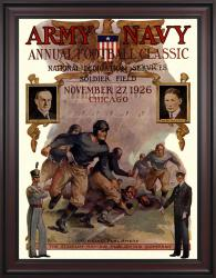 1926 Army Black Knights vs Navy Midshipmen 36x48 Framed Canvas Historic Football Poster