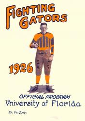1926 Florida Gators Program 22x30 Canvas Historic Football Poster