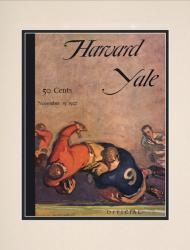 1926 Harvard Crimson vs Yale Bulldogs 10 1/2 x 14 Matted Historic Football Poster
