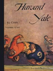 1926 Harvard Crimson vs Yale Bulldogs 22x30 Canvas Historic Football Poster