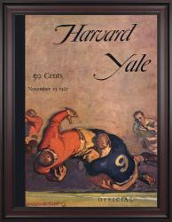 1926 Harvard Crimson vs Yale Bulldogs 36x48 Framed Canvas Historic Football Poster