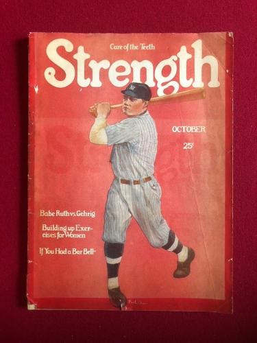 "1927, Babe Ruth, ""Strength"" Magazine (Rare) New York Yankees"