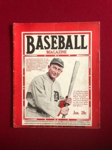 "1927, TY COBB, ""BASEBALL"" Magazine (No Label) Rare"