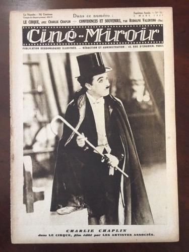 "1928, Charlie Chaplin, ""Cine-Miroir"" Magazine  (RARE)"