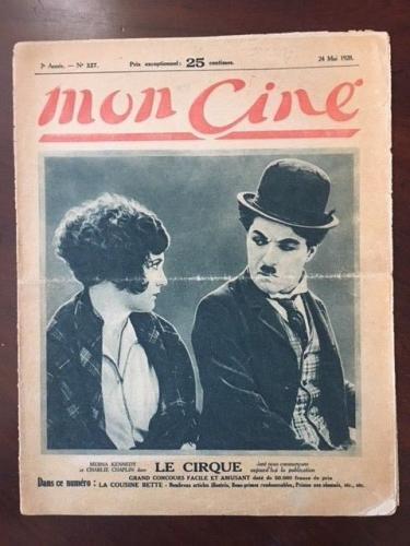 "1928, Charlie Chaplin, ""Mon Cine"" Magazine (Scarce)"