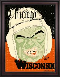 1928 Wisconsin Badgers vs Chicago Maroons 36x48 Framed Canvas Historic Football Poster