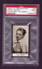 1929 C. & T. Bridgewater MICKEY ROONEY Rookie RC #42 PSA MINT 9 Film Stars