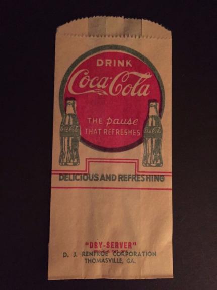 """1929 Coca-Cola, """"Un-Used"""" """"No-Drip"""" Bottle Bag (Scarce)"""