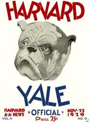 1929 Harvard Crimson vs Yale Bulldogs 22x30 Canvas Historic Football Poster