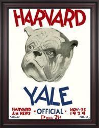 1929 Harvard Crimson vs Yale Bulldogs 36x48 Framed Canvas Historic Football Poster