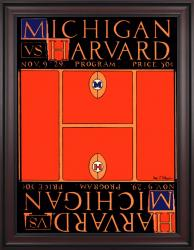 1929 Michigan Wolverines vs Harvard Crimson 36x48 Framed Canvas Historic Football Poster