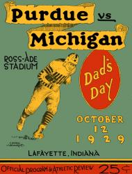 1929 Purdue Boilermakers vs Michigan Wolverines 22x30 Canvas Historic Football Poster