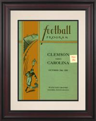 1929 South Carolina Gamecocks vs Clemson Tigers 10 1/2 x 14 Framed Historic Football Poster - Mounted Memories