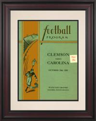 1929 South Carolina Gamecocks vs Clemson Tigers 10 1/2 x 14 Framed Historic Football Poster