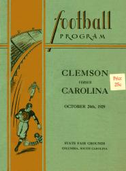 1929 South Carolina Gamecocks vs Clemson Tigers 22x30 Canvas Historic Football Poster