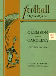 1929 South Carolina Gamecocks vs Clemson Tigers36x48 Canvas Historic Football Poster