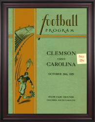1929 South Carolina Gamecocks vs Clemson Tigers 36x48 Framed Canvas Historic Football Poster