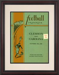 1929 South Carolina Gamecocks vs Clemson Tigers 8.5'' x 11'' Framed Historic Football Poster