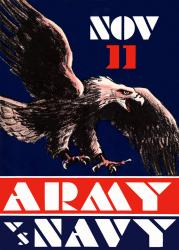 1930 Army Black Knights vs Navy Midshipmen 22x30 Canvas Historic Football Poster