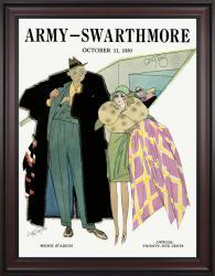 1930 Army Black Knights vs Swarthmore 36x48 Framed Canvas Historic Football Poster