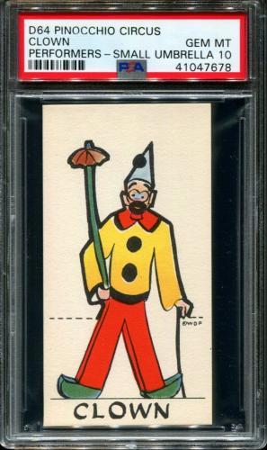 1930 D64 Pinocchio Circus Performers Clown Pop 2 Psa 10 N2591043-678