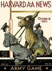 1930 Harvard Crimson vs Army Black Knights 22x30 Canvas Historic Football Poster