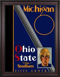 1930 Ohio State Buckeyes vs Michigan Wolverines 36x48 Framed Canvas Historic Football Poster